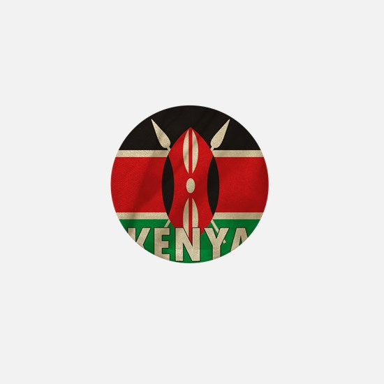 Kenya Fabric Flag Mini Button
