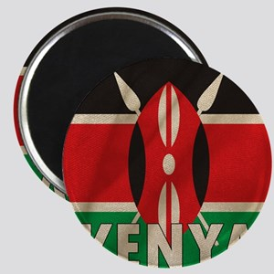 Kenya Fabric Flag Magnet