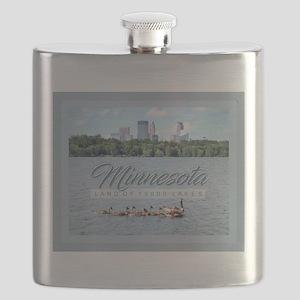 Minnesota 10,000 Lakes Flask