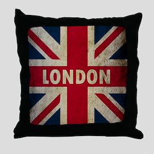 Vintage Union Jack Throw Pillow