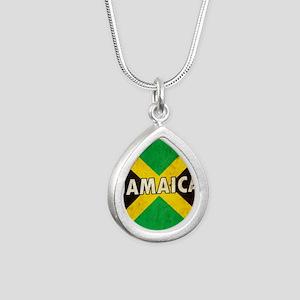 Jamaica Silver Teardrop Necklace