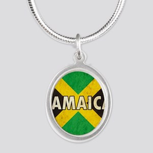 Jamaica Silver Oval Necklace