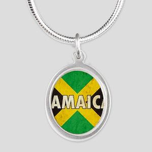 Jamaica Silver Oval Necklace