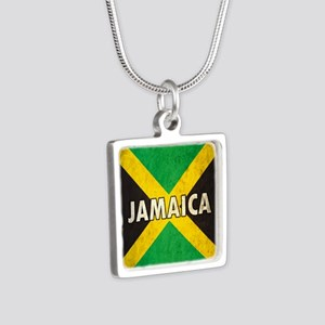 Jamaica Silver Square Necklace