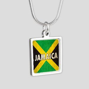 Jamaica Silver Square Necklace