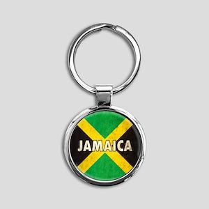Jamaica Round Keychain