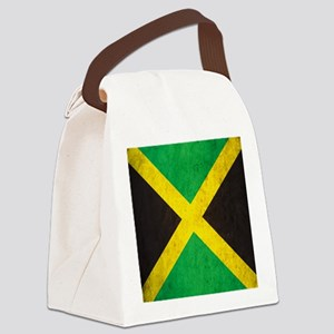 Vintage Jamaica Flag Canvas Lunch Bag