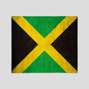 Vintage Jamaica Flag Throw Blanket