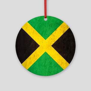 Vintage Jamaica Flag Round Ornament