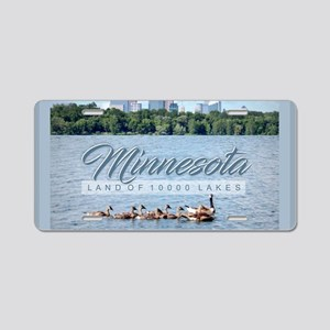 Minnesota 10,000 Lakes Aluminum License Plate