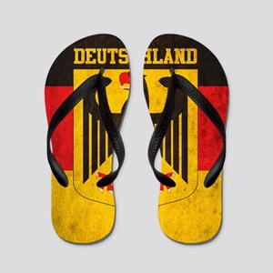 c818d2a28 Vintage Deutschland Flag Flip Flops