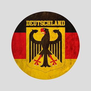 """Vintage Deutschland Flag 3.5"""" Button"""