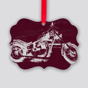 Motorcycle Art Picture Ornament