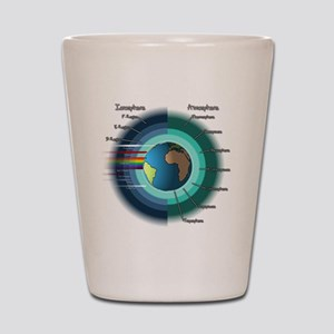 Earths atmosphere and Ionosphere Shot Glass