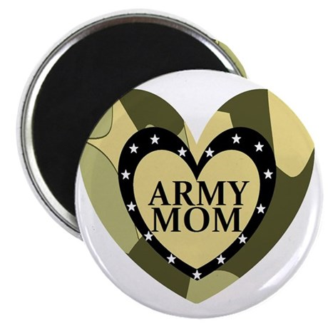 ARMY MOM CAMOUFLAGE HEART Magnet