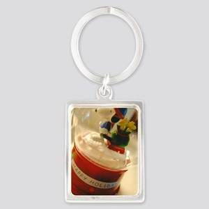Happy Holidays Portrait Keychain