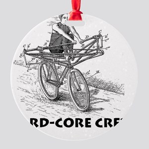 Hard Core Crew Round Ornament