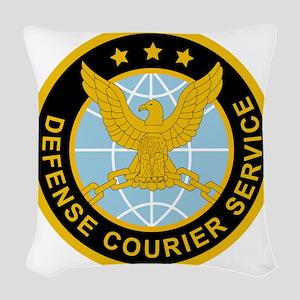 DefenseCourierService Woven Throw Pillow