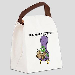 Custom Turtle Reading Canvas Lunch Bag