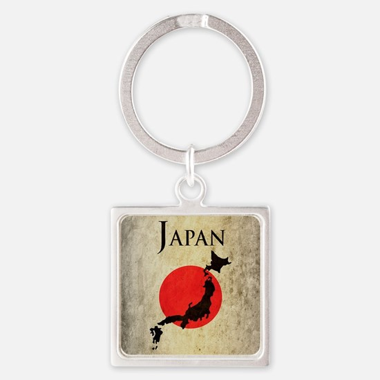 Map Of Japan Square Keychain