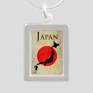 Map Of Japan Silver Portrait Necklace