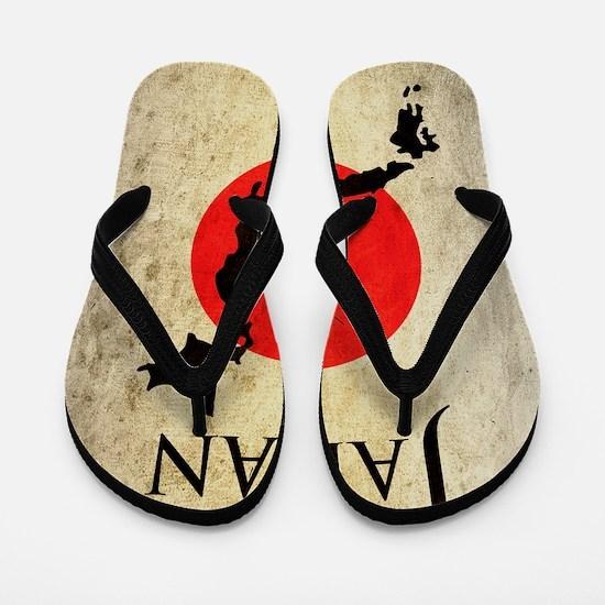Map Of Japan Flip Flops