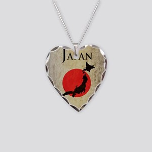 Map Of Japan Necklace Heart Charm