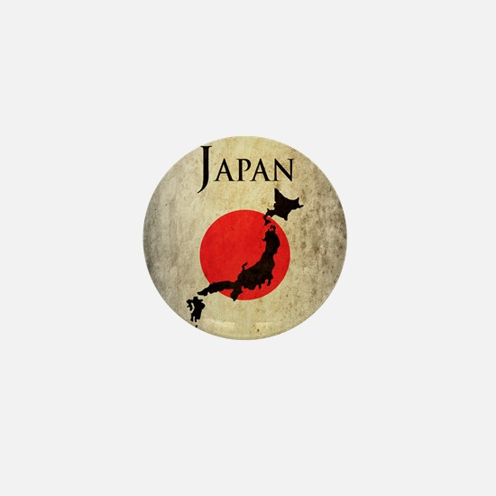 Map Of Japan Mini Button