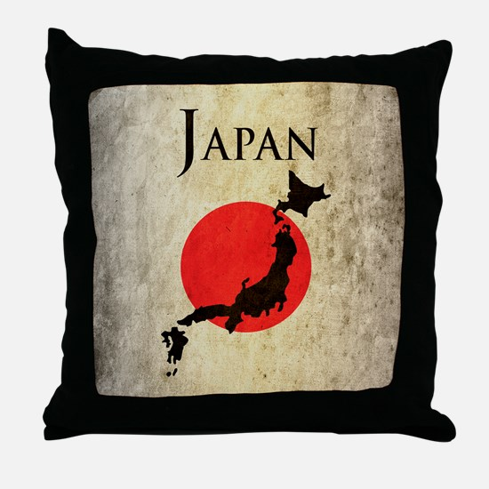 Map Of Japan Throw Pillow