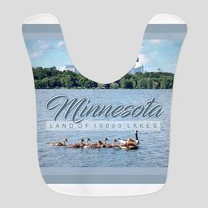 Minnesota 10,000 Lakes Polyester Baby Bib