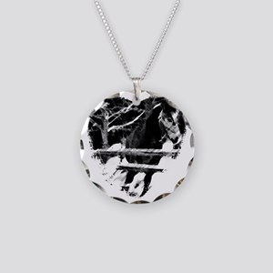 Horse Lover Necklace Circle Charm