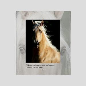 Golden Dream Horse Throw Blanket