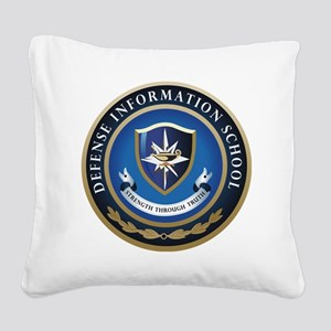 Defense Information School Square Canvas Pillow