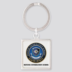 Defense Information School with Te Square Keychain