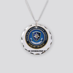 Defense Information School w Necklace Circle Charm
