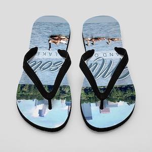 Minnesota 10,000 Lakes Flip Flops