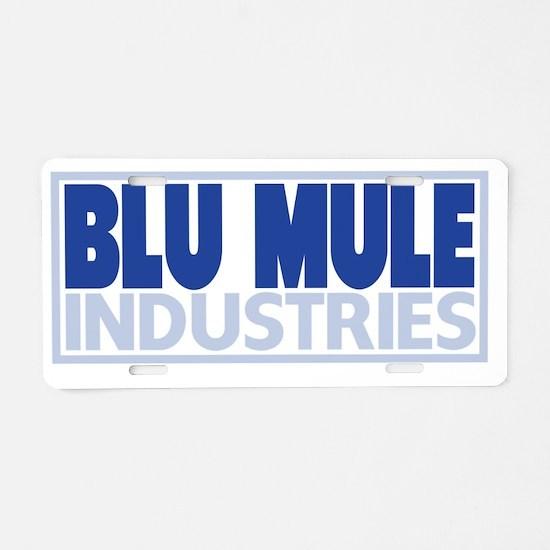 Blu Mule Logo Aluminum License Plate