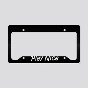 Play Nice License Plate Holder