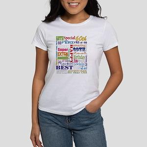 60th Birthday Typogr Women's Classic White T-Shirt