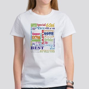 60th Birthday Typogr Womens Classic White T Shirt