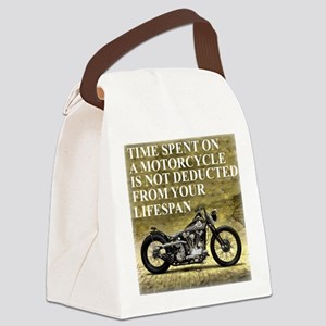 Time Spent On A Motorcycle Canvas Lunch Bag