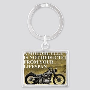 Time Spent On A Motorcycle Landscape Keychain