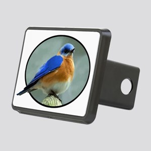 Bluebird in Oval Frame Rectangular Hitch Cover