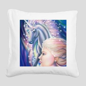 Unicorn Princess 16x20 Square Canvas Pillow