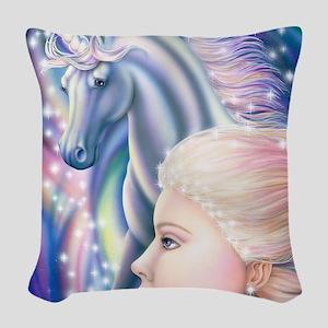 Unicorn Princess 16x20 Woven Throw Pillow