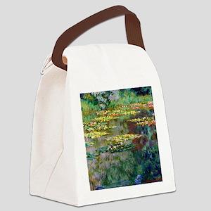 Shower Monet Le Bassin Canvas Lunch Bag