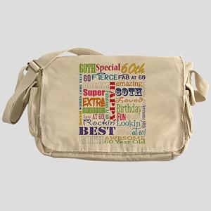 60th Birthday Typography Messenger Bag