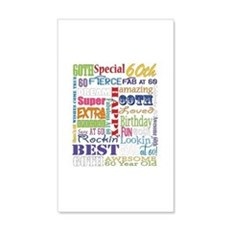 60th Birthday Typography Wall Decal