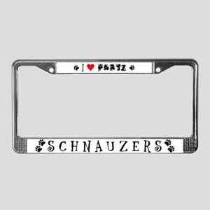 Parti Schnauzers 2.0 License Plate Frame
