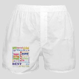 60th Birthday Typography Boxer Shorts